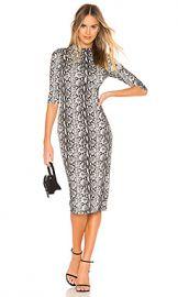 Alice   Olivia Delora Dress in Black  amp  White from Revolve com at Revolve