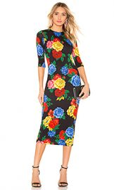 Alice   Olivia Delora Fitted Dress in Camellia Bouquet from Revolve com at Revolve
