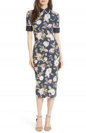 Alice   Olivia Delora Fittted Floral Dress   Nordstrom at Nordstrom