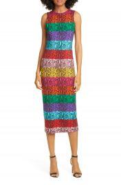 Alice   Olivia Delora Rainbow Snake Print Dress   Nordstrom at Nordstrom