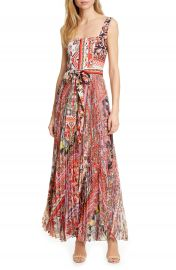 Alice   Olivia Deonna Pleated Tie Waist Maxi Dress   Nordstrom at Nordstrom