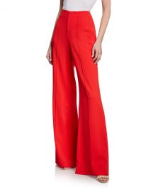 Alice   Olivia Dylan Clean High-Waist Wide-Leg Pants at Neiman Marcus