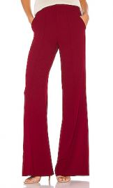 Alice   Olivia Dylan High Waist Wide Leg Pant in Bordeaux from Revolve com at Revolve