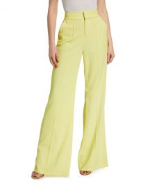 Alice   Olivia Dylan High-Waist Wide-Leg Pants at Neiman Marcus