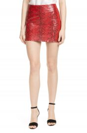 Alice   Olivia Elana Leather Miniskirt   Nordstrom at Nordstrom