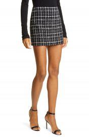 Alice   Olivia Elana Tweed Miniskirt   Nordstrom at Nordstrom