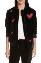 Alice   Olivia Embroidered Patch Oversize Bomber Jacket   Nordstrom at Nordstrom
