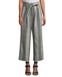 Alice   Olivia Farrel Paper Bag Pleated Pant at Neiman Marcus
