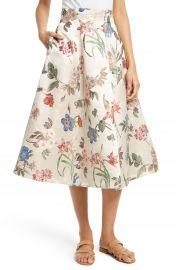 Alice   Olivia Fila Floral Midi Skirt   Nordstrom at Nordstrom