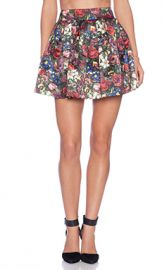 Alice   Olivia Fizer Box Pleat Skirt in English Floral from Revolve com at Revolve