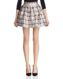 Alice   Olivia Fizer Printed Satin Mini Skirt at Bloomingdales