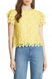 Alice   Olivia Franca Lace Top at Nordstrom
