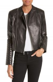 Alice   Olivia Gamma Leather Jacket at Nordstrom