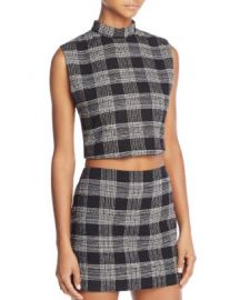 Alice   Olivia Garland Mock-Neck Crop Top at Bloomingdales