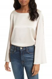 Alice   Olivia Genia Bell Sleeve Top at Nordstrom