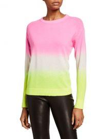 Alice   Olivia Gleeson Dip-Dye Long-Sleeve Pullover at Neiman Marcus