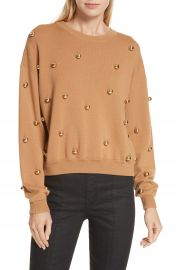 Alice   Olivia Gleeson Metal Ball Detail Wool Blend Sweater   Nordstrom at Nordstrom