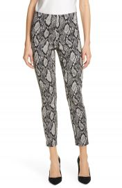 Alice   Olivia Gloriane Snake Print Zip Cuff Crop Pants   Nordstrom at Nordstrom