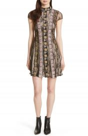 Alice   Olivia Gwyneth Embroidered Floral Dress at Nordstrom
