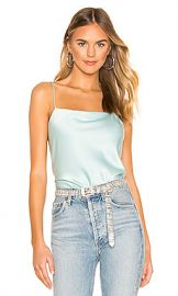 Alice   Olivia Harmon Slip Tank in Powder Blue from Revolve com at Revolve