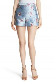 Alice   Olivia Heath Bird Print Shorts at Nordstrom
