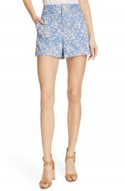 Alice   Olivia High Waist Floral Shorts   Nordstrom at Nordstrom