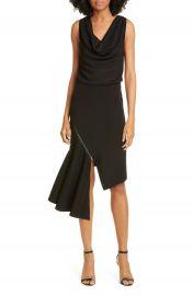 Alice   Olivia Hollis Cascade Asymmetrical Dress   Nordstrom at Nordstrom