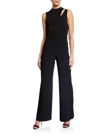 Alice   Olivia Ivy Fitted Cutout Jumpsuit at Neiman Marcus