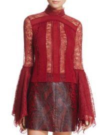 Alice   Olivia Ivy Handkerchief-Sleeve Top at Bloomingdales