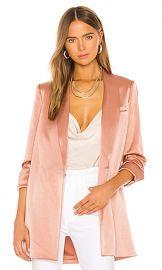 Alice   Olivia Jace Shawl Collar Oversized Blazer in Rose Tan from Revolve com at Revolve
