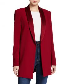 Alice   Olivia Jace Strong-Shoulder Oversized Blazer at Neiman Marcus