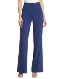 Alice   Olivia Jalisa High-Rise Fitted Flared Pants at Neiman Marcus