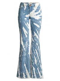 Alice   Olivia Jeans - Beautiful Low-Rise Tie-Dye Bell Bottom Jeans at Saks Fifth Avenue