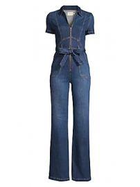 Alice   Olivia Jeans - Belted Denim Jumpsuit at Saks Fifth Avenue