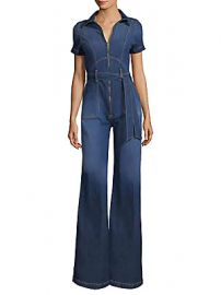 Alice   Olivia Jeans - Gorgeous Collar Wide-Leg Jumpsuit at Saks Fifth Avenue