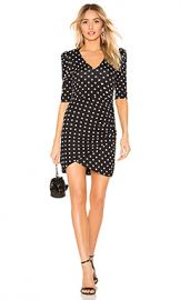 Alice   Olivia Judy Ruched Dress in Med Polka Dot from Revolve com at Revolve