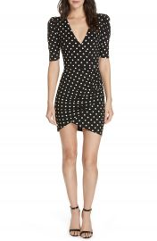 Alice   Olivia Judy Ruched Faux Wrap Dress   Nordstrom at Nordstrom