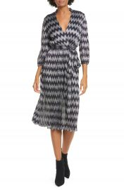 Alice   Olivia Katina Belted Faux Wrap Midi Dress   Nordstrom at Nordstrom
