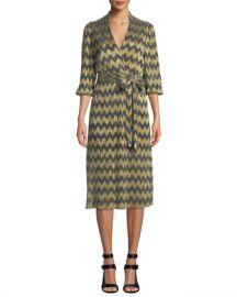 Alice   Olivia Katina Gathered Midi Dress with Belt at Neiman Marcus