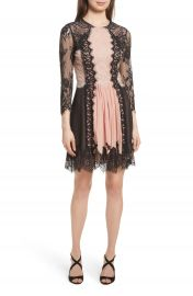 Alice   Olivia Kaylen Mixed Lace Dress at Nordstrom