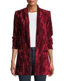 Alice   Olivia Kylie Easy Shawl-Collar Velvet Blazer at Neiman Marcus