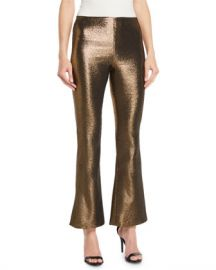 Alice   Olivia Kylyn High-Waist Back-Zip Flare Pants at Neiman Marcus