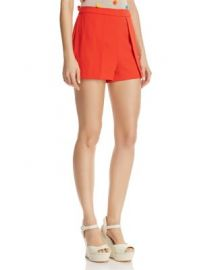 Alice   Olivia Larissa Open-Pleat Shorts at Bloomingdales