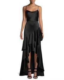 Alice   Olivia Lauralei Ruffle High-Low Gown at Neiman Marcus