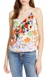 Alice   Olivia Lavonia Floral Ruffle Draped Camisole   Nordstrom at Nordstrom
