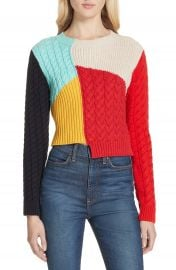 Alice   Olivia Lebell Colorblock Sweater   Nordstrom at Nordstrom