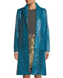 Alice   Olivia Logan Leather Oversized-Collar Coat at Neiman Marcus