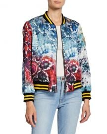 Alice   Olivia Lonnie Reversible Oversized Bomber Jacket at Neiman Marcus