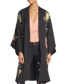 Alice   Olivia Lupe Embroidered Long Kimono at Bloomingdales