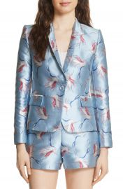 Alice   Olivia Macey Bird Print Jacket at Nordstrom